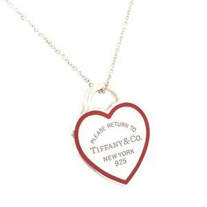 Tiffany and Co Heart Tag Red Enamel